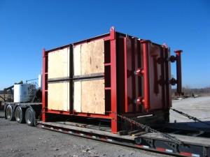 AHC Waste heat economizer on truck for delivery