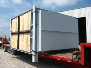 Waste heat economizer from AHC on truck preparing for delivery