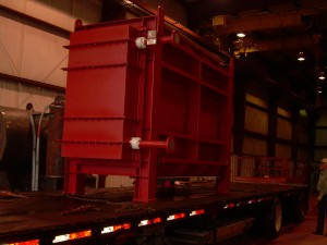Waste heat economizer being delivered to facility