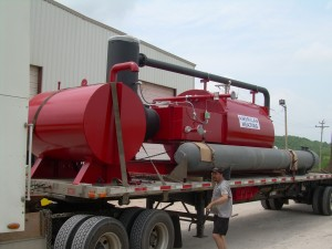 AHC asphalt heater on truck for delivery