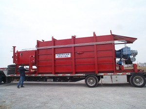 Thermal fluid heating equipment on delivery truck