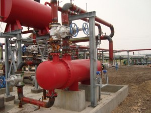Outdoor process heating equipment