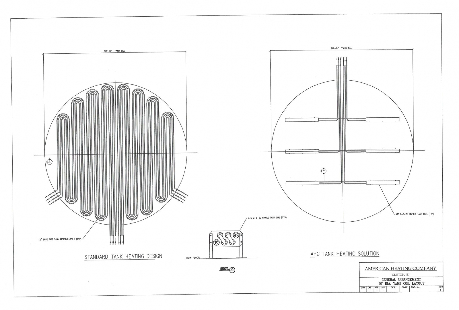 Sketch of Tank Coil Layout Comparison