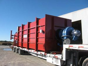 Thermal fluid heating equipment on a truck ready for transport