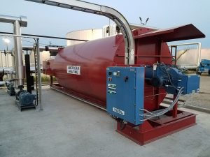 ECF Inc. Installation of AHC industrial thermal fluid heater at facility