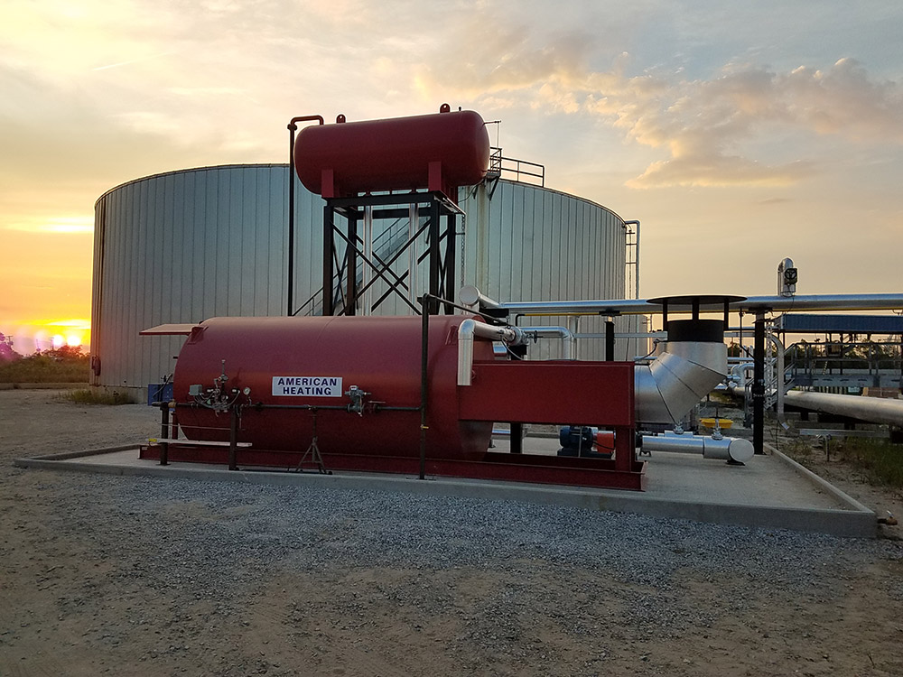 ECF Inc. Installation of AHC industrial thermal fluid heater