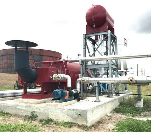 installed industrial thermal fluid heater