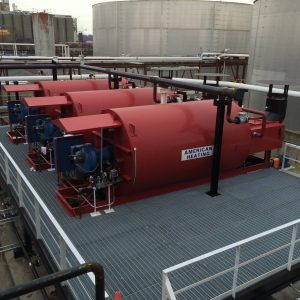 American Heating Company thermal fluid heaters installed on site