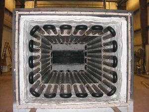 Serpentine Coil Thermal Fluid Heater interior