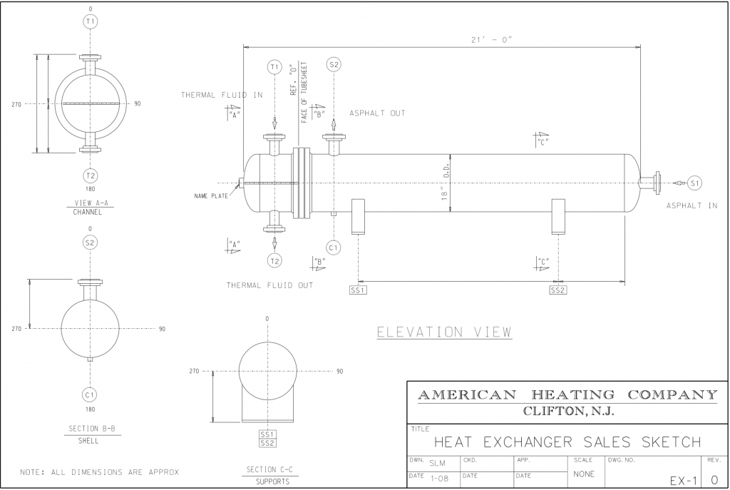 diagram of shell and tube heat exchanger
