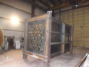 Waste heat economizer side view