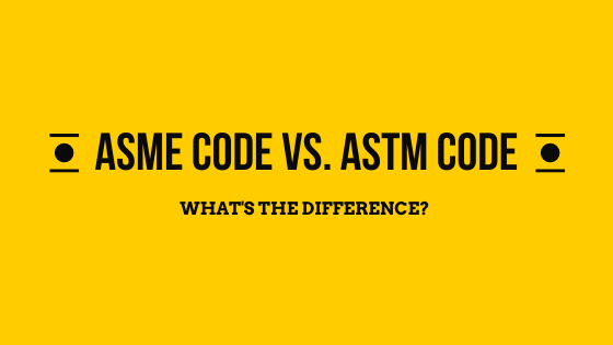 ASME Code vs. ASTM Code graphic