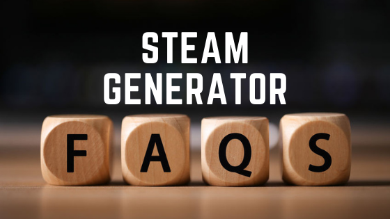 Graphic that reads Steam Generator FAQs