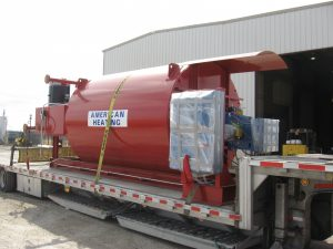 AHE-650 thermal fluid heater delivery in progress