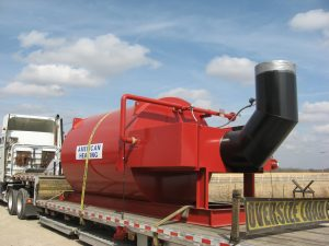 American Heating Company AHE-650 thermal fluid heater on truck for delivery