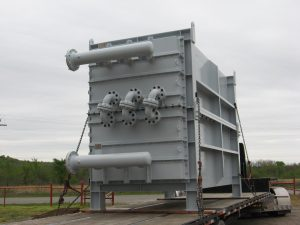 American Heating Company waste heat economizer on truck for delivery
