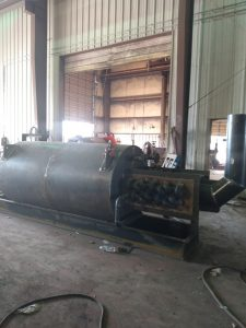 Thermal fluid heater at American Heating Company fabrication plant
